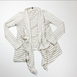 Anthropologie Coin 1804 Open Front Cardigan Nude